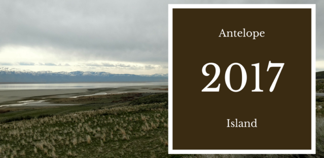 View to the mainland from Antelope Island
