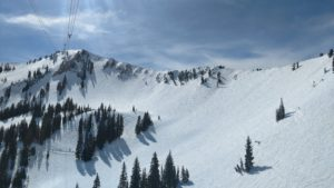 Ski slopes at Snowbird