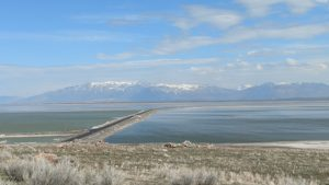 Causeway from Davis County to Antelope Island