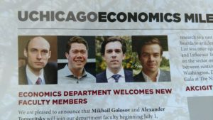 New faculty at the University of Chicago Economics department. They are all white men.
